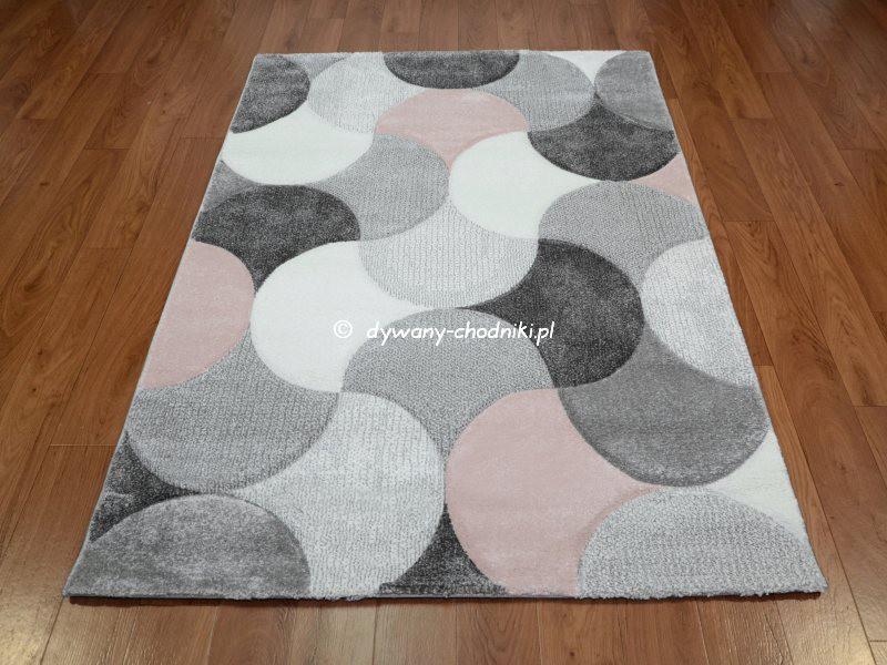 Dywan Diamond 22057 fala szary różowy sklep dywany
