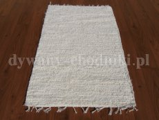 Cream cotton reversible rug