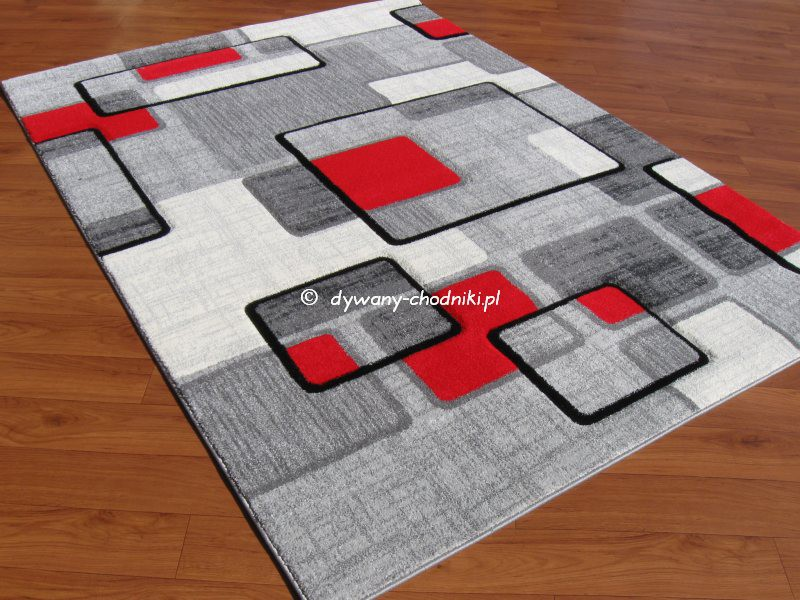 Dywan Rumba 7819a grey - red