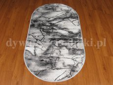 Grey 1022 non-slip gel oval rug